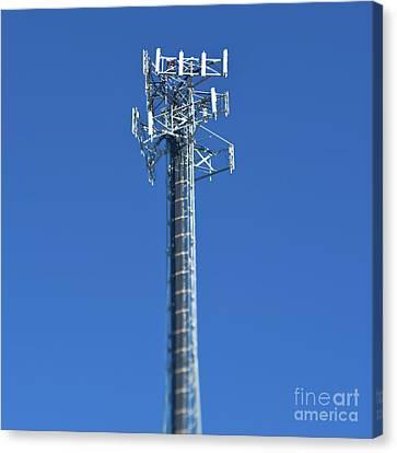 Telecommunications Tower Canvas Print by Eddy Joaquim