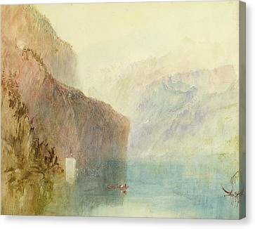 Tell's Chapel - Lake Lucerne Canvas Print by Joseph Mallord William Turner