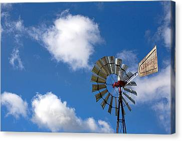 Temecula Wine Country Windmill Canvas Print by Peter Tellone