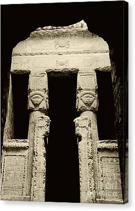Temple Of Hathor Canvas Print by Photo Researchers, Inc.