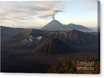 Tengger Caldera With Erupting Mount Canvas Print by Martin Rietze