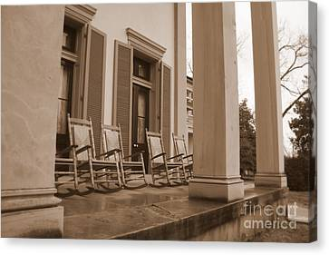 Tennessee Plantation Porch Canvas Print by Carol Groenen