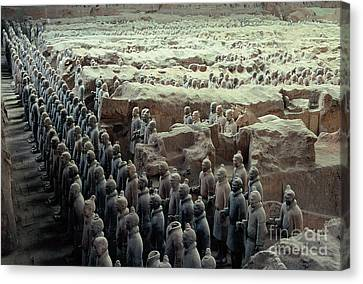 Terracotta Warriors Canvas Print by Ronnie Glover