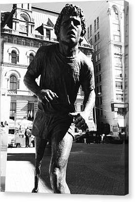 Terry Fox Canvas Print by Kevin Gilchrist