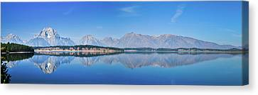 Teton Reflections Canvas Print by Greg Norrell