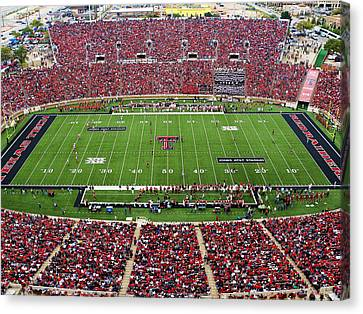 Texas Tech Jones At And T Stadium Canvas Print by Michael Strong