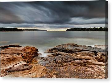 Textures Of Land And Sky Canvas Print by Mark Lucey