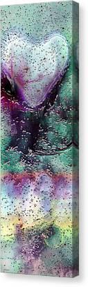 Textures Of The Heart Canvas Print by Linda Sannuti