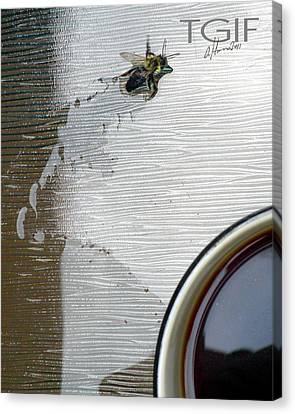 Tgif Coffee Bee There Canvas Print by Tonie Cook