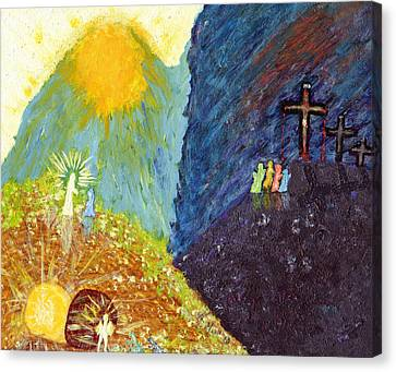 Thank God For Good Friday And Easter Sunday Canvas Print by Carl Deaville