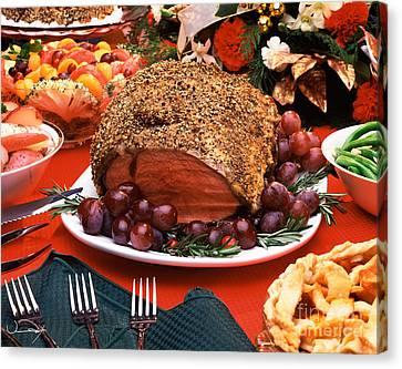 Thanksgiving Prime Rib Canvas Print by Vance Fox