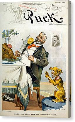 Thanksgiving, Puck Magazine Cover Canvas Print by Everett
