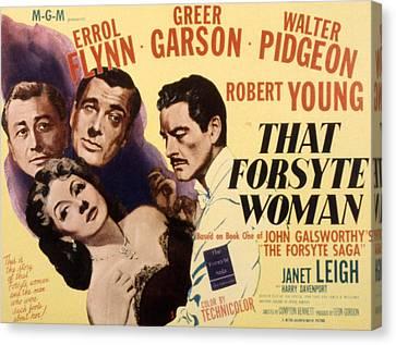 That Forsyte Woman, Greer Garson, Errol Canvas Print by Everett