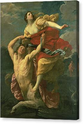The Abduction Of Deianeira Canvas Print by  Centaur Nessus