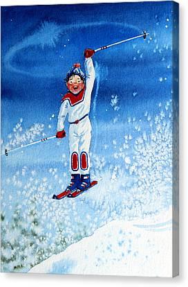 The Aerial Skier 15 Canvas Print by Hanne Lore Koehler