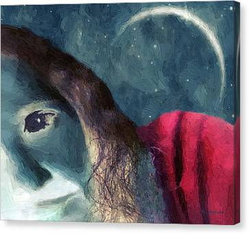 The Agony Of Saint Catherine Canvas Print by RC DeWinter