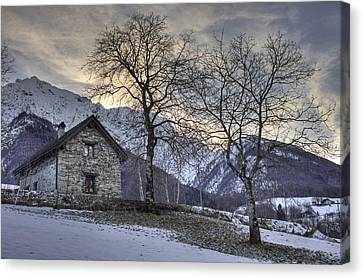 The Alps In Winter Canvas Print by Joana Kruse