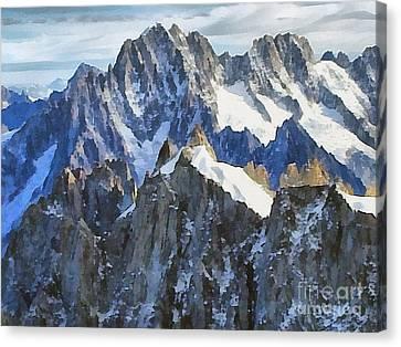The Alps Canvas Print by Odon Czintos