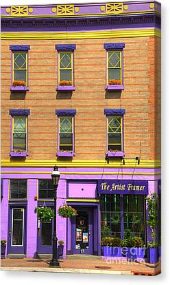 The Artist Framer Canvas Print by Paul Ward