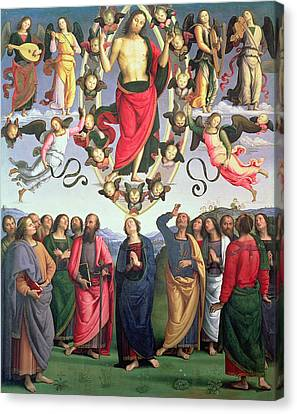 The Ascension Of Christ Canvas Print by Pietro Perugino