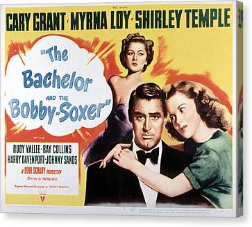 The Bachelor And The Bobby-soxer, Cary Canvas Print by Everett