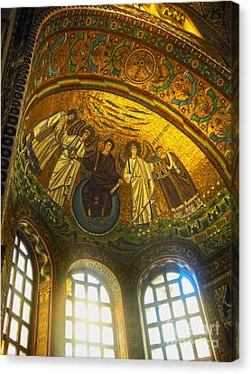 The Basilica Di San Vitale In Ravenna - 02 Canvas Print by Gregory Dyer