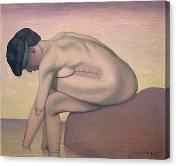 The Bather Canvas Print by Felix Edouard Vallotton