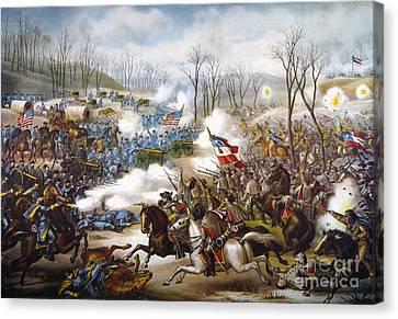 The Battle Of Pea Ridge, Canvas Print by Granger