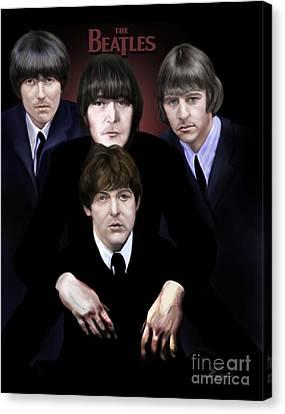 The Beatles Canvas Print by Reggie Duffie