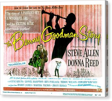 The Benny Goodman Story, Donna Reed Canvas Print by Everett