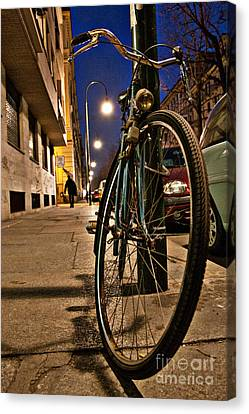 The Bicycle Canvas Print by Sonny Marcyan