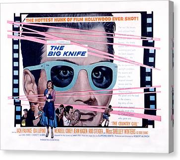 The Big Knife, Jack Palance, Ida Canvas Print by Everett