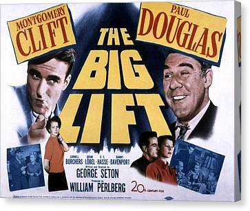The Big Lift, Montgomery Clift, Paul Canvas Print by Everett