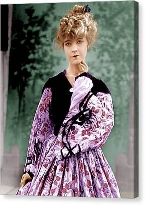The Birth Of A Nation, Lillian Gish Canvas Print by Everett