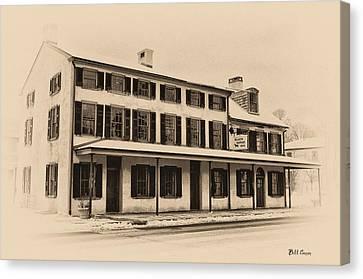 The Black Horse Inn - Flourtown Pa Canvas Print by Bill Cannon