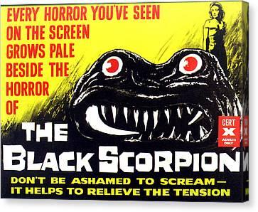 The Black Scorpion, Top Right Mara Canvas Print by Everett