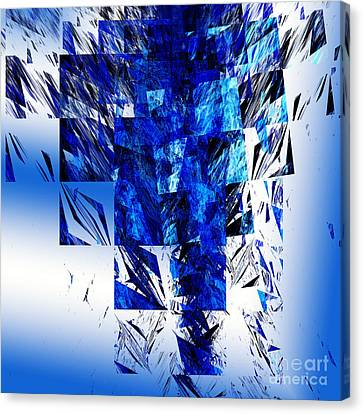 The Blue Chandelier Canvas Print by Andee Design