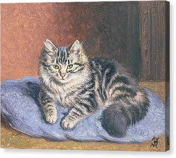 The Blue Cushion Canvas Print by Horatio Henry Couldery