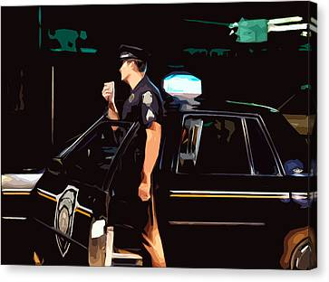 The Blue Line Canvas Print by Robert Ponzoni