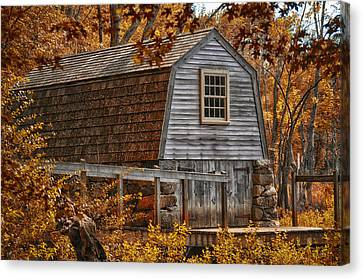 The Boathouse At The Manse Canvas Print by Tricia Marchlik