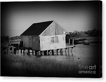 The Boathouse With Texture Canvas Print by Luke Moore