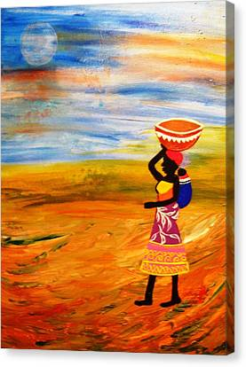 The Bond Canvas Print by Fatima Pardhan