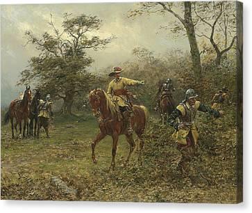 The Boscobel Oak Canvas Print by Earnest Crofts