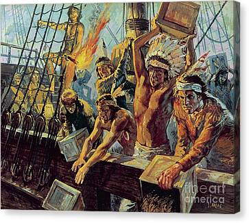 The Boston Tea Party Canvas Print by Luis Arcas Brauner