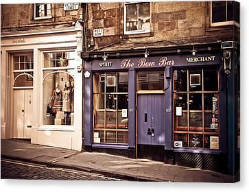 The Bow Bar. Edinburgh. Scotland Canvas Print by Jenny Rainbow