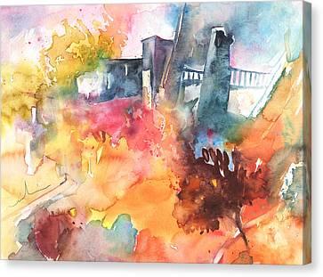 The Bridge On Planet Goodaboom Canvas Print by Miki De Goodaboom