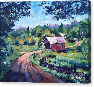 The Bridges Of East Randolph Vermont Canvas Print by David Lloyd Glover