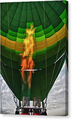 The Burner Canvas Print by Zoe Ferrie