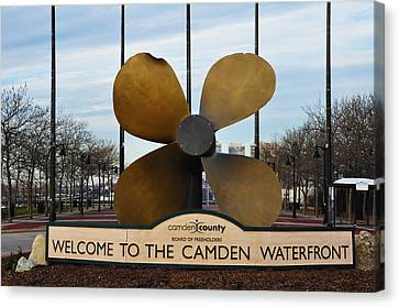 The Camden Waterfront Canvas Print by Bill Cannon