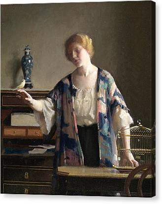 The Canary Canvas Print by William McGregor Paxton
